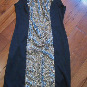 montreau bling dress size small in black and gold